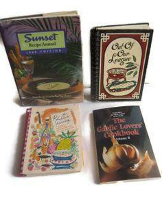 Vintage Cookbooks Set of 4 by BeckVintage on Etsy, $24.00