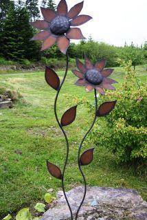 metal petals garden art nice garden accent piece - Metallic Garden Decor