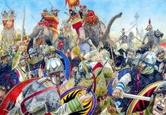 Battle of Frygium 27.July 363. Second day of fighting when Persians after being informed about Julian's death renewed their major attack on demoralized Roman columns.