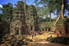 Ta Prohm Temple, part of the Angkor Wat temple complex in Siem Reap, Cambodia.. Where to Go in 2018 - Bloomberg