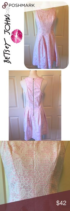 """BETSY JOHNSON FIT & FLARE PINK DRESS Beautiful Betsy Johnson Fit & Flare Pink Dress 🔹Racerback🔹Exposed back zipper🔹Excellent Condition🔹Size 8: 34"""" Bust, 31"""" Waist, 37"""" Length🔹 100% polyester 🔹Dry Clean🔹NO Trades🔹Smoke Free Home🔹Bundle Discount: 10% Off Two, 15% Off Three🔹Thank You For Stopping By💕 Betsey Johnson Dresses"""