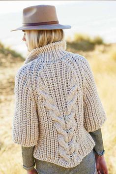 Crochet Patterns Sweter knitted cardigan with braids Crochet Beanie, Crochet Cardigan, Crochet Yarn, Crochet Shawl, Sewing Patterns, Crochet Patterns, Shrug For Dresses, Christmas Knitting Patterns, Mohair Sweater