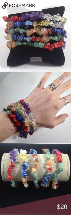 (1) 7 Chakra Kundalini Alignment Bracelet 🙏 8in Men 🙏 7in Women Custom sizes available!! handmade Accessories Jewelry