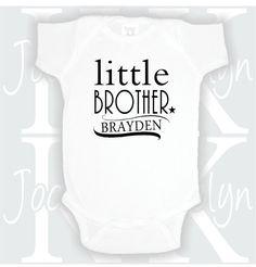 Stretch Onesies\u00ae Vinyl Infant Custom Little Brother Lil Sis Toddler Onesie Custom Name Baby Onesie Little Sister