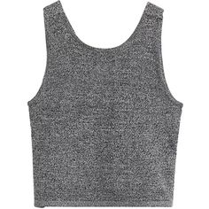 Sexy Back Cutout Crop Tank (€9,22) ❤ liked on Polyvore featuring tops, tank tops, crop tops, shirts, deep grey, cut-out shirts, sleeveless tank, grey crop top, sexy tank tops and grey shirt
