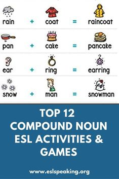 Compound Noun Activities and Games: Top 12 | ESL Activities