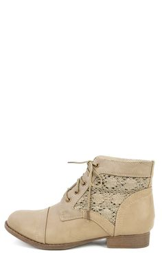 Crochet Lace Up Ankle Boots