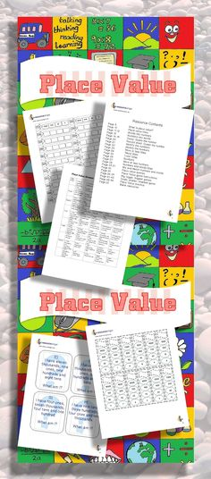 Place value printables for journals. Grades 2 to 4. Place value Math