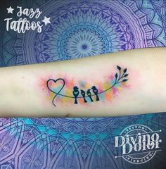 Family // kids // water colour 🖤🖤🖤 Family Tattoos, Tattoos For Kids, Tattoos For Daughters, Mom Tattoos, Body Art Tattoos, I Tattoo, Tatoos, Simple Tattoo With Meaning, Tattoos Familie