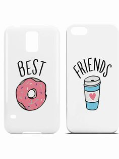 BFF Hoesjes Donut Best Friends Bff Iphone Cases, Bff Cases, Cute Cases, Cute Phone Cases, Best Friend Cases, Friends Phone Case, Diy Gifts For Friends, Bff Gifts, Pochette Iphone 6