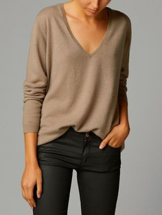 Great fit, not into the neutral of the sweater for me - maybe a grey, charcoal, or plum?