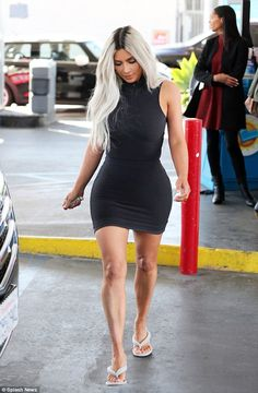 Stunning: Kim Kardashian revealed she's just like any one of us as she visited a gas stati...