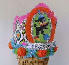 Poodle Birthday Party Crown Hat Vintage Customize