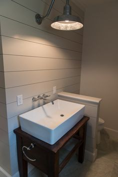 the sink stands alone on an open shelf unit this is an option