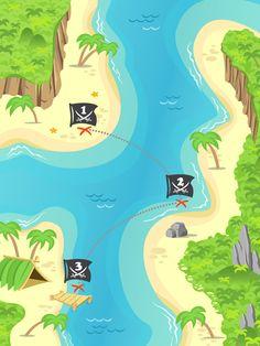 Pirate treasure island
