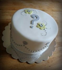 Neutral gender reveal cake