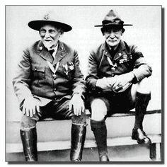 Baden-Powell met 'uncle Dan', de stichter van de Boy Scouts of America (BSA)