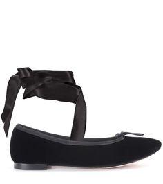 Cheap Many Kinds Of Cheap Pick A Best Repetto Anna velvet ballerinas Genuine Online Sale Sale Online Choice nua7kcvO
