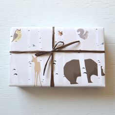 FOREST FRIENDS Owl wrapping paper