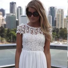For Sale: NWOT White Lace Short Dress  for $22