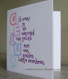 Nota Bene: kalligrafie; calligraphy; tekst/words: Kris Gelaude; Neuland; kabouterletters