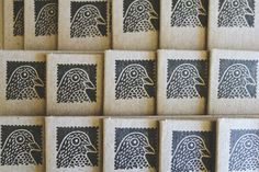 Bird stamps using foam?