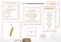 Pocketfoldeinladung von Juhu Papeterie aus Karlsruhe in tolle Sorbet-Tönen! Hochzeitspapeterie, Hochzeitseinladung, gold, rosa, mint, Pocketfold