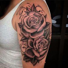 Lovely Dope Tattoos, Girly Tattoos, Pretty Tattoos, Body Art Tattoos, Tatoos, Shoulder Tattoos For Women, Sleeve Tattoos For Women, Thigh Piece Tattoos, Stylist Tattoos