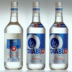 DIABLO VODKA - Dizajn kartónových obalov a etikiet Diablo Vodka pre výrobcu alkoholu Profdrink, Bratislava.