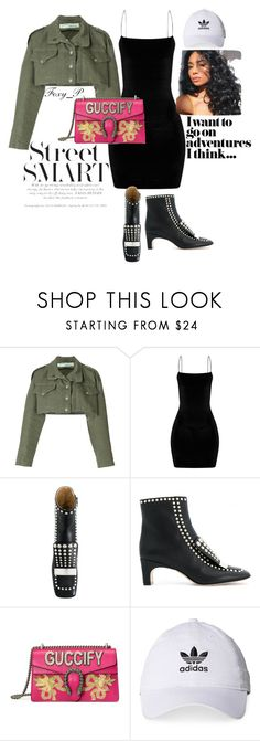 """Street Smart"" by foxy-patta on Polyvore featuring Off-White, Sergio Rossi, Gucci and adidas"