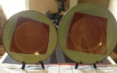 Set of 2 M. Pilati Signature plates/serving plates by BarroYagua, $55.00