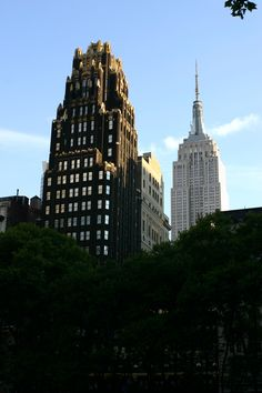 Bryant Park Hotel With The Empire State Building In Background
