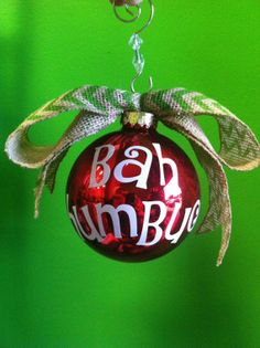 Bah Humbug! Christmas Ornament, Christmas Ornament, Holiday Ornament, White Elephant Gift Idea, Gift Idea, Funny Ornament