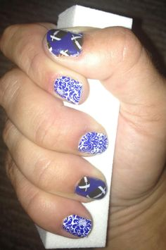 Jamberry Nails, footballs on clear, Team colors!