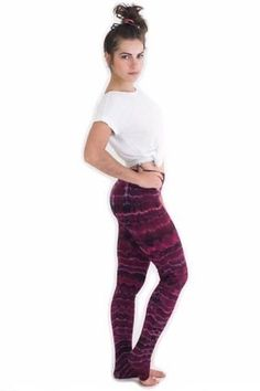 These Maroon Melting Stripes Women's Tie Dye Leggings are perfect for you if you like yoga, festivals, or Tie Dye in general! Each pair of Tie Dye Leggings are Tie Dye Leggings, Striped Leggings, I Love Winter, Athletic Wear, Teen Fashion, Fashion 2018, Clothing Company, Leggings Fashion, Stripes