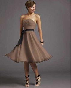 Short Taupe Bridesmaid Dresses at bestdress.org