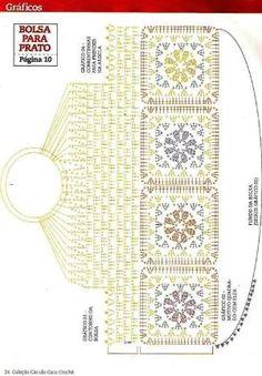Crochet Fancy Flower Bag - Diagram by esperanza