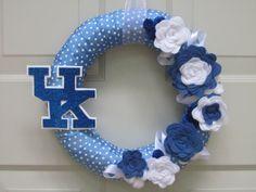 UK ribbon wreath with felt flowers