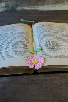 Crochet Flower Bookmark...