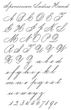 question about Spencerian Script