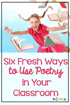 Using poetry to engage students in reading activities makes literacy instruction fun and exciting. These six ideas will help keep poetry fresh all year long. Simple Poems, Reading Process, Reading Help, National Poetry Month, Best Poems, Alliteration, Vocabulary Building, Phonological Awareness, Mentor Texts