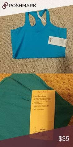 Lululemon cool racerback Beautiful kayak blue Lululemon cool racerback. Purchased off another site and didnt realize it is luxtreme fabric. I personally prefer the luon. Willing to trade for luon racer back or swiftly or sell. lululemon athletica Tops Tank Tops