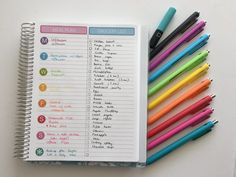 how to use blank pages of your notebook minimalist meal planning ideas inspiration bullet journalling color coding papermate inkjoy gel review-min