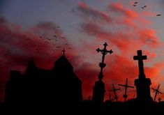 cemetery, dark, and Halloween Dracula, Noxus League Of Legends, Olgierd Von Everec, Southern Gothic, Red Aesthetic, Aesthetic Grunge, Cemetery, Creepy, Witch