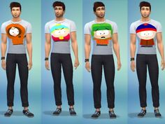 South Park T-shirt for The Sims 4
