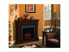 replace wood stove?? ClassicFlame Franklin Electric Fireplace in Roasted Mahogany - Compare Prices and Reviews on ClassicFlame 23DM871PM92 Fireplaces at PriceGra...