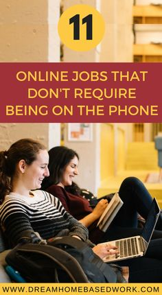 Best 11 Online Work at Home Jobs that Don't Require Being on the Phone - Dream Home Based Work