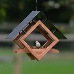 Perky-Pet® The Architect Bird Feeder - cup Seed, Worm, Nut, and Fruit Capacity Modern Bird Feeders, Wood Bird Feeder, Bird House Feeder, Hanging Bird Feeders, Contemporary Bird Feeders, Wood Projects, Woodworking Projects, Jardiniere Design, Bird Houses Diy