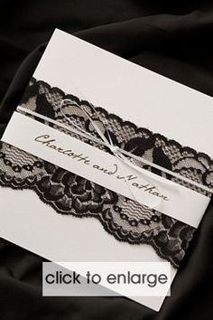Black and White Chantilee Invitation - Wedding Invitations & Stationery