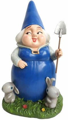 Lady Blueberry w/Bunnies Gnome Statue - Click to enlarge